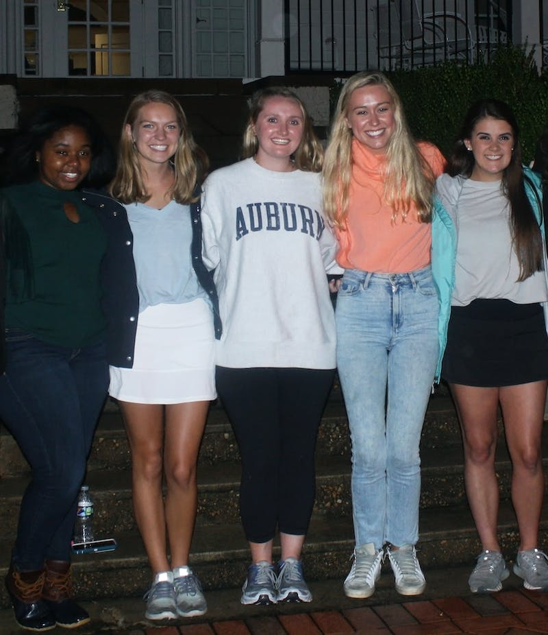 Auburn's 2021 top five Miss Homecoming candidates, from left to right: Asia Howard, Peyton Hill, Lady Frances Hamilton, Carlee Yarbrough and Maddie Wellbaum.