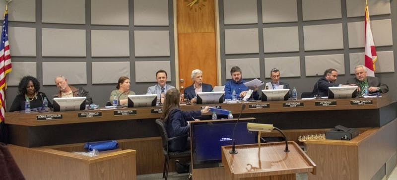 The Auburn City Council during its meeting on Feb. 5, 2019, in Auburn, Ala.