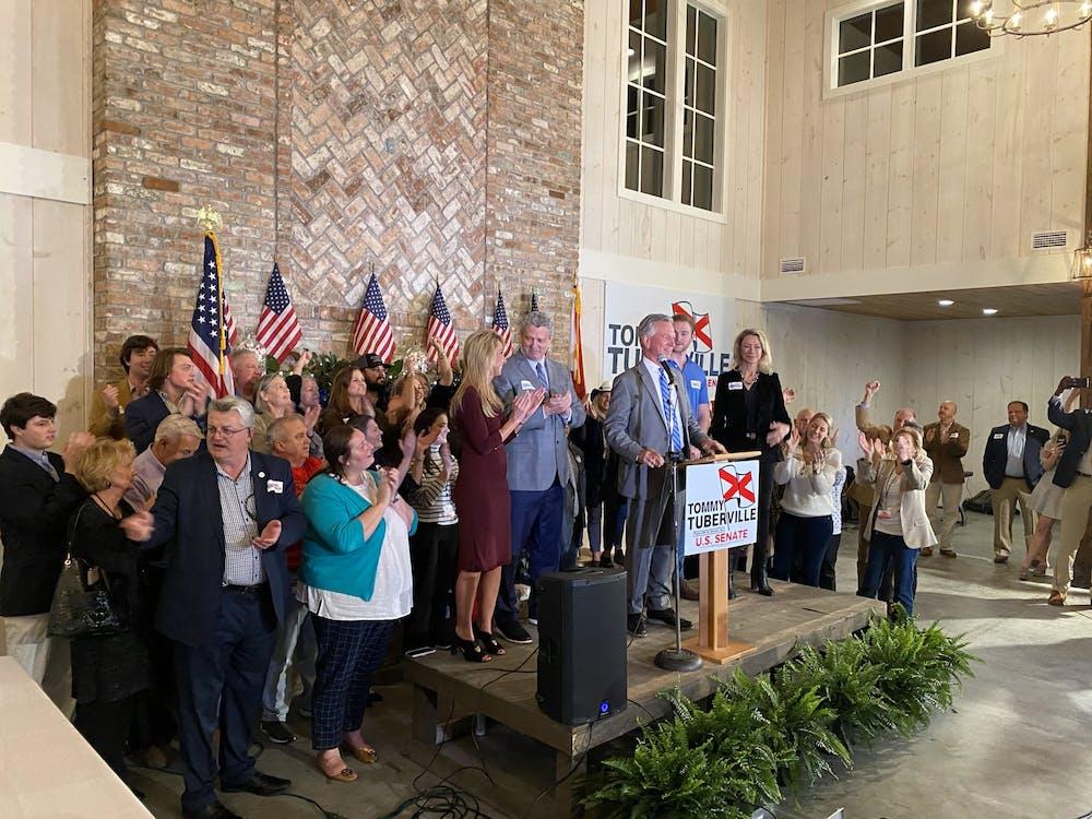 Tuberville wins Republican runoff