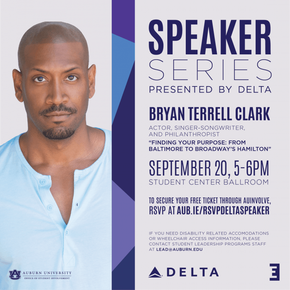 Actor from 'Hamilton' talks about following passions in Delta Speaker Series kick-off