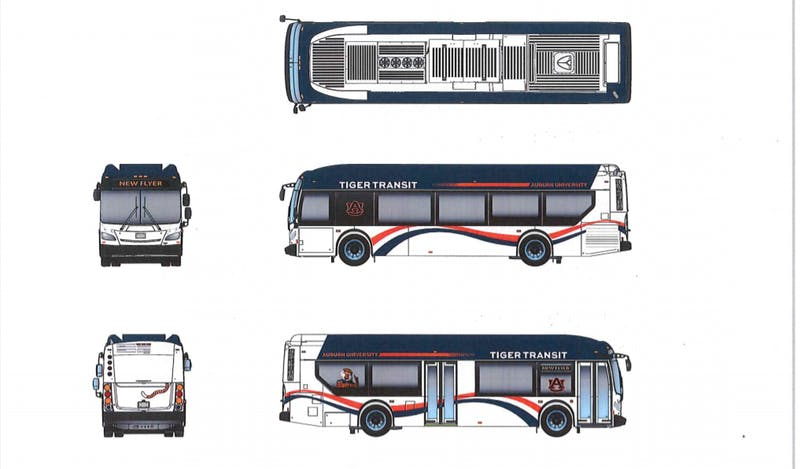 Auburn University's new hybrid-electric buses will feature WiFi, USB charging ports and increased standing capacity.