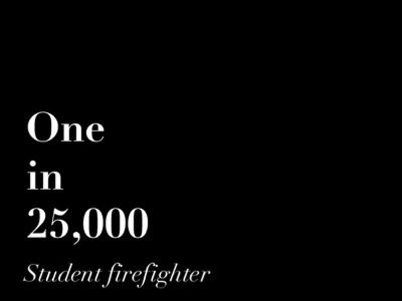 """""""One in 25,000: Student firefighter"""" by Rebecca Croomes"""
