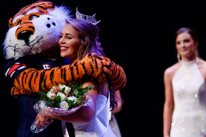 Lauren Bradford is crowned Miss Auburn University on Sunday, Oct. 7, 2018, in Auburn, Ala.