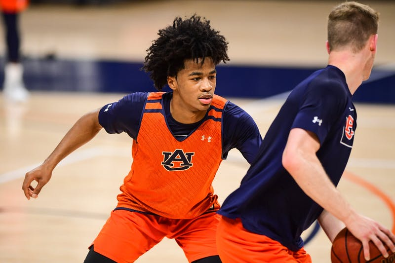 Auburn guard Sharife Cooper during practice. Photo via: Shanna Lockwood | Auburn Athletics.