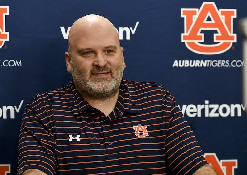 Auburn coach Will Friend talks on Zoom, Tuesday, April 5, 2021 in Auburn, Ala.Todd Van Emst/AU Athletics