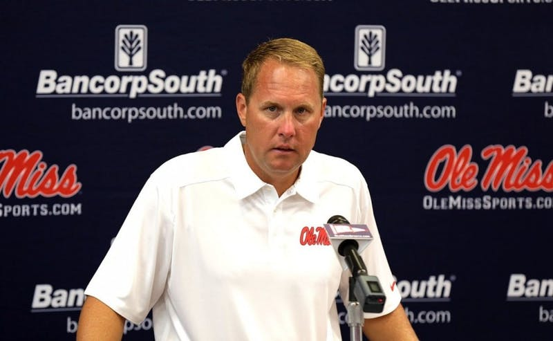 Former Rebels head coach Hugh Freeze via Ole Miss Athletics and OleMissSports.com
