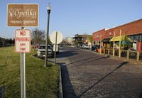 Several new businesses line the streets in downtown Opelika.