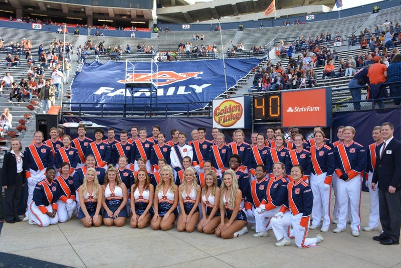 Auburn Universities marching band seniors at Auburn Football vs Liberty on Saturday,  Nov. 17, 2018, in Auburn, Ala.