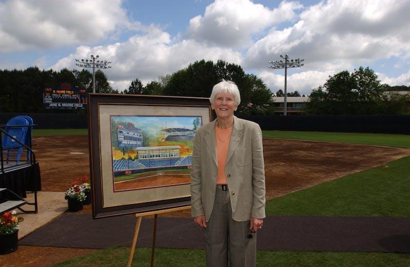 Jane B. Moore, Auburn athletics pioneer, has died. She was born in 1935.