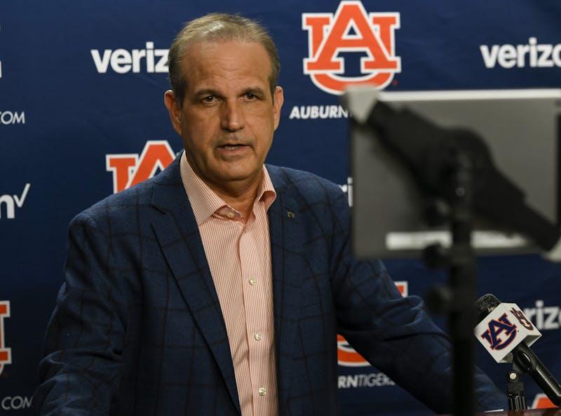 Auburn interim head coach Kevin Steele talks about signing day on Wednesday, Dec. 16, 2020 in Auburn, Ala.