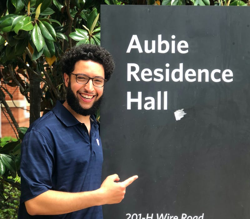 Sadok Aounallah, an RA for the Village dorms, talks about living alone on campus and his fears about COVID-19.