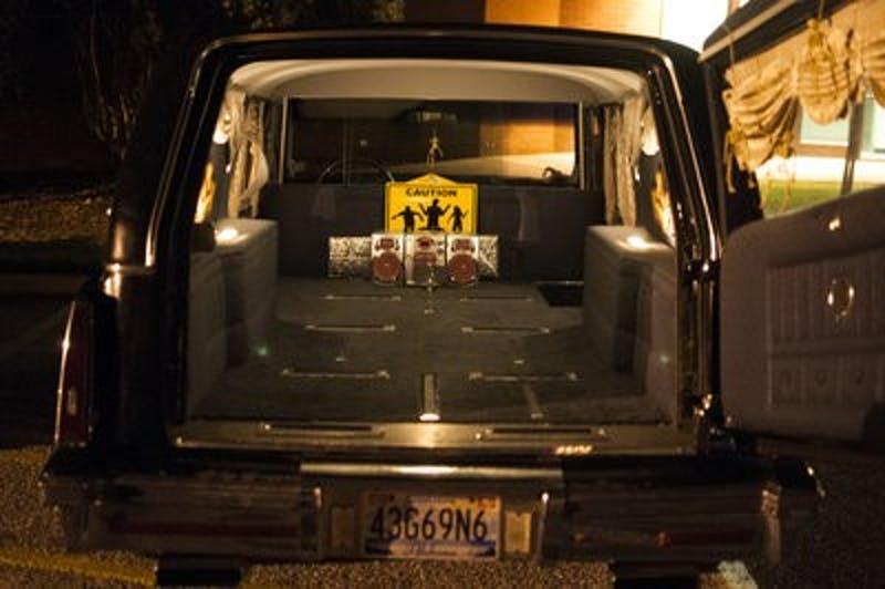 Serafin conducts her ghost tours from her own hearse.