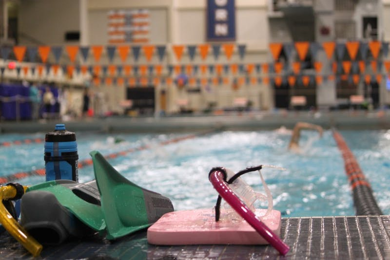 Auburn Masters Swimming program member and equipment during practice on Sunday, Jan. 13, 2019.