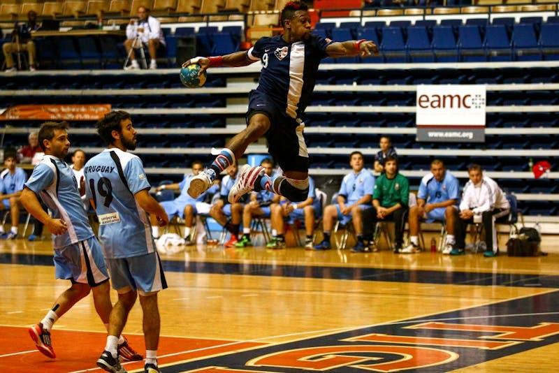 Uruguay vs Auburn Olympic Handball in Auburn AL, March 7, 2015.