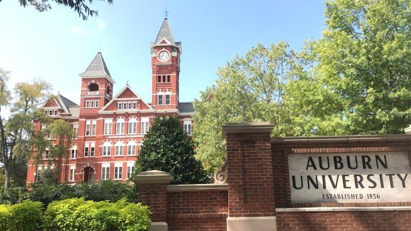 Samford Hall on campus at Auburn University in Auburn, Ala.