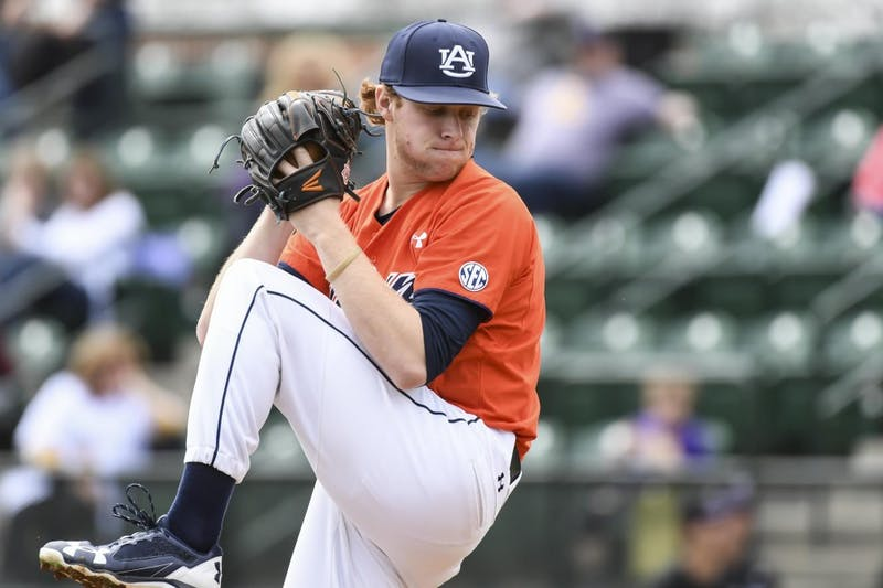 Davis Daniel Auburn baseball vs Lipscomb on Sunday March 5, 2017 in Auburn, Ala.  Photo by Wade Rackley/Auburn Athletics