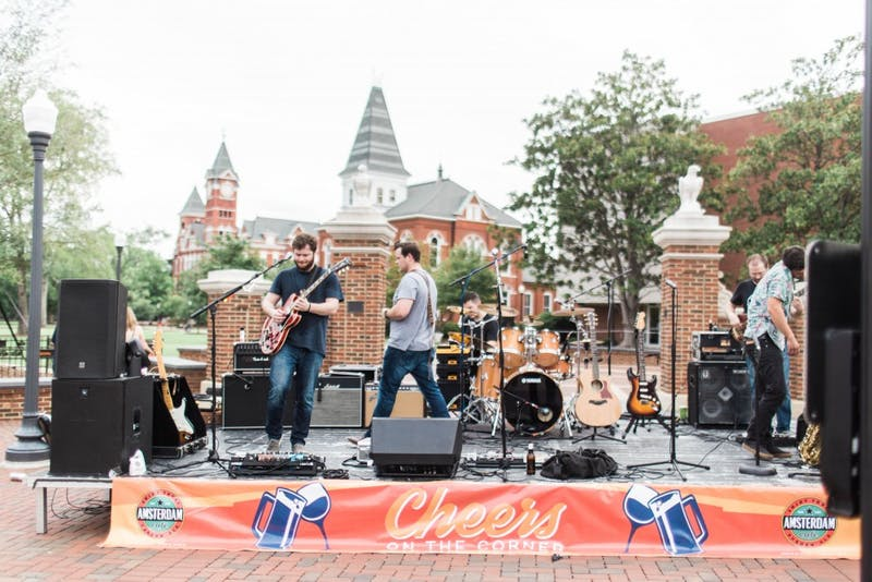 Spencer Danial and the Rogue Tones play at Cheers on the Corner on July 28, 2017, in Auburn, Ala.