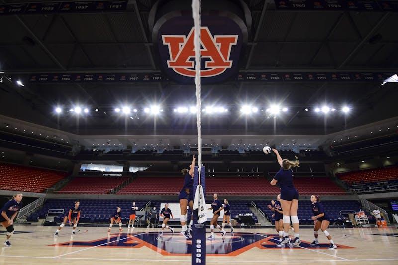 Aug 12, 2020; Auburn, AL, USA; View during volleyball practice at Auburn Arena. Mandatory Credit: Shanna Lockwood/AU Athletics
