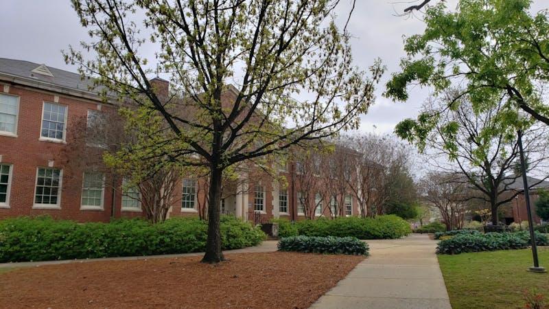 Cary Hall on Auburn University's campus on March 24, 2020, in Auburn, Ala.