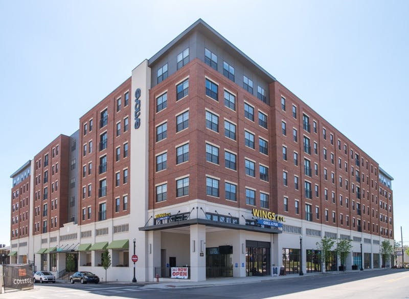 The Evolve apartment complex in Auburn, Ala. on Sunday, April 8, 2018.