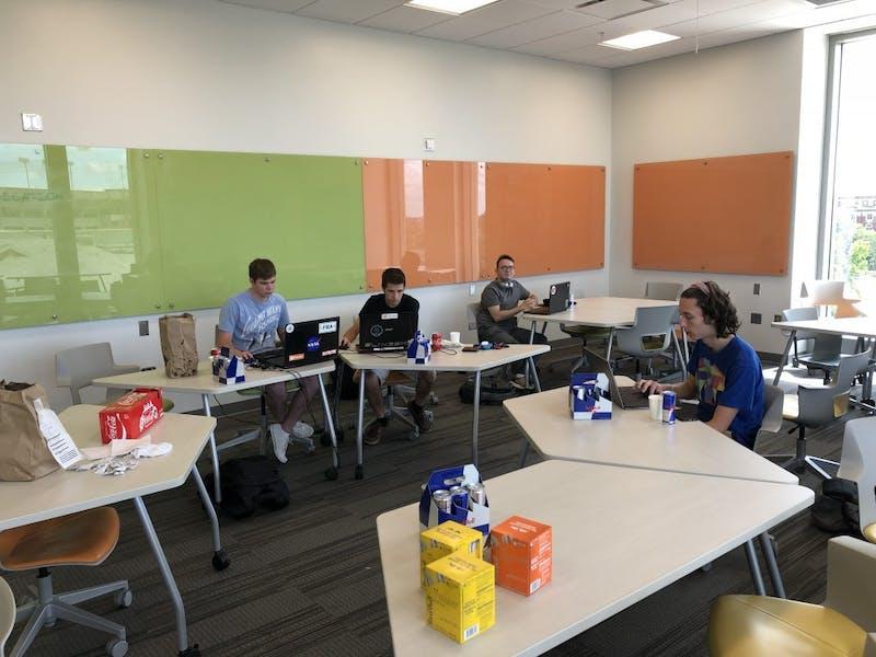 TigerDev members participate in a game jam session in Auburn, Ala.