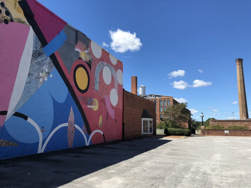 One of the murals for a photo opportunity in Columbus, Georgia.