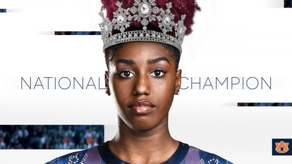 Auburn freshman Derrian Gobourne wins share of national championship in NCAA vault