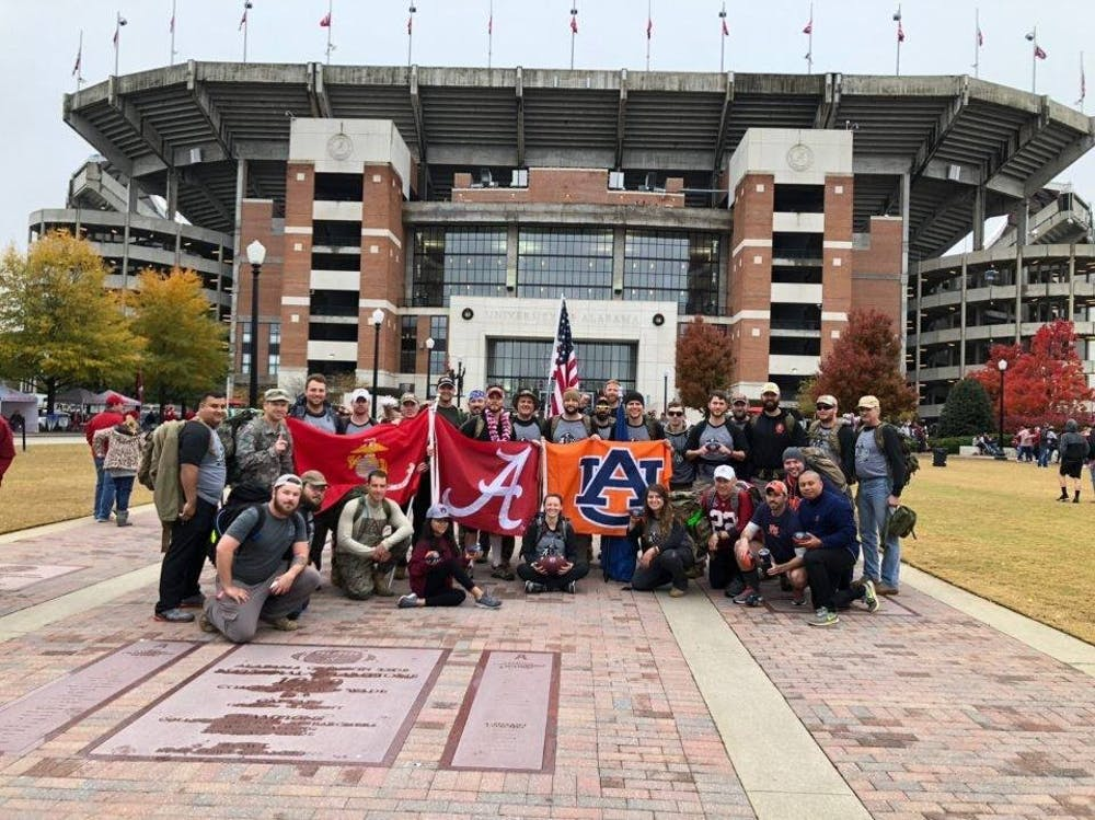 Veterans march to UA this year in Operation Iron Ruck