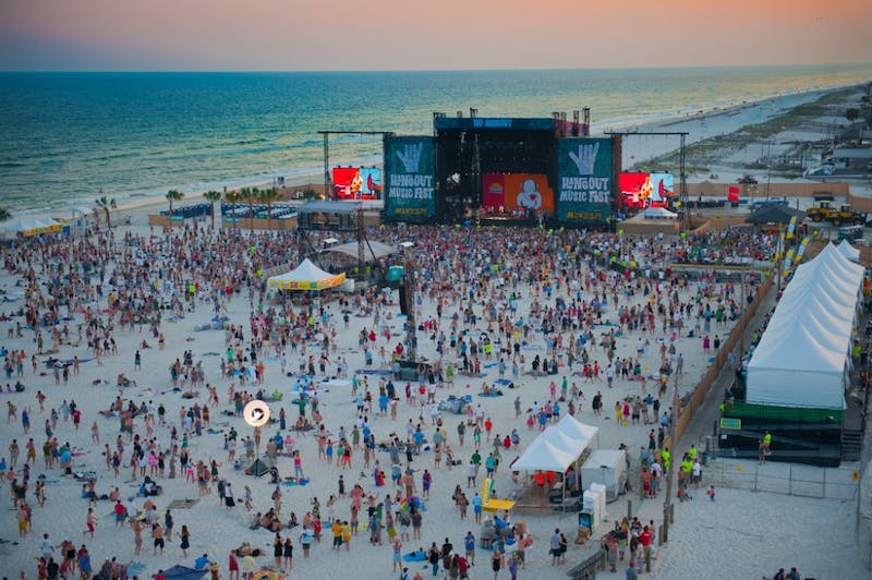 Hangout Music Fest is held in May in Gulf Shores, Alabama.