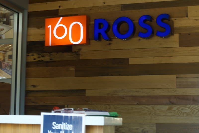 Both on and off-campus residents in 160 Ross have had to adjust to living in a living environment with elements of both.