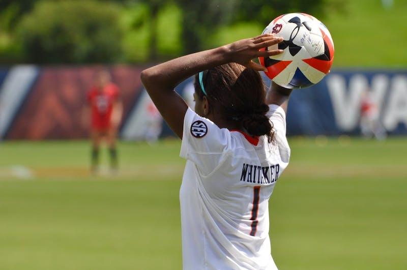 Hailey Whitaker (1) during Auburn Soccer vs. Cincinnati on Sunday, Sept. 9, 2018 in Auburn, Ala.