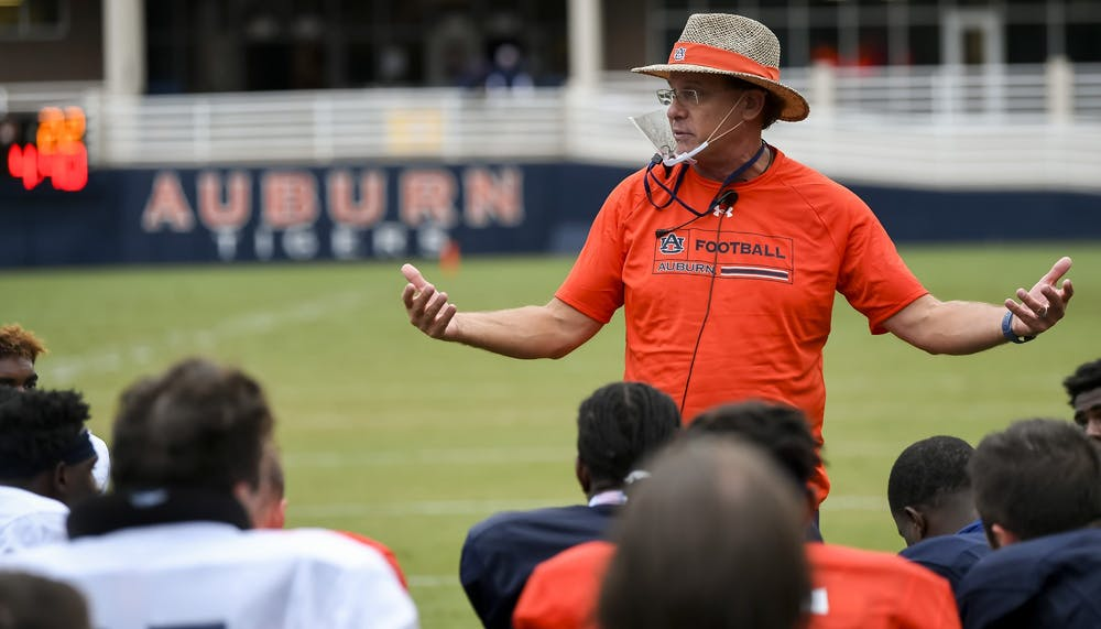 Auburn football with nine positive cases of COVID-19; 16 players unable to practice this week