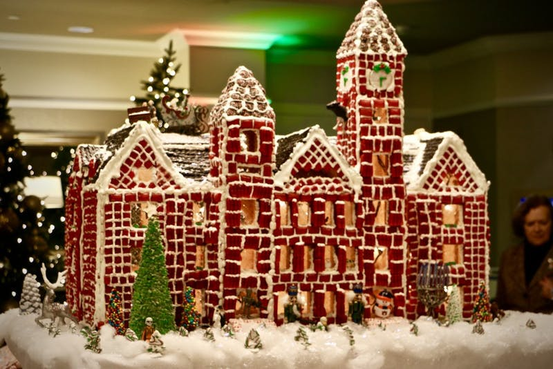 Auburn residents viewed the Gingerbread Village Unveiling at the Auburn Hotel on Sunday Dec. 9, 2018, in Auburn, Ala.
