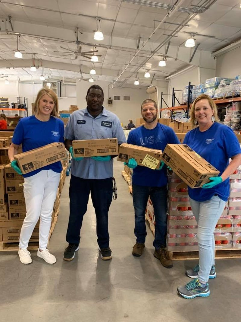 Auburn City Schools has partnered with the Dream Center to provide meal boxes to families in need after schools were closed state-wide in an effort to prevent the spread of the COVID-19 virus.