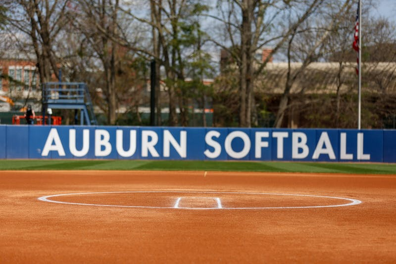 Mar 14, 2021; Auburn, AL, USA; Field before the game between Auburn and Alabama at Jane B Moore Field. Mandatory Credit: Matthew Shannon/AU Athletics