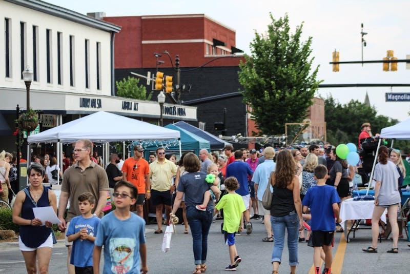 Auburn community is enjoying the festivities at Summernight Downtown Art Walk on Friday, June 8, 2018,  in Auburn, Ala.