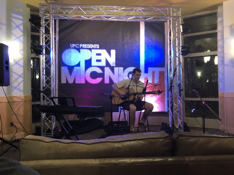 UPC hosts first open mic night at Student Center Starbucks on Tuesday, Sept. 18, 2018.