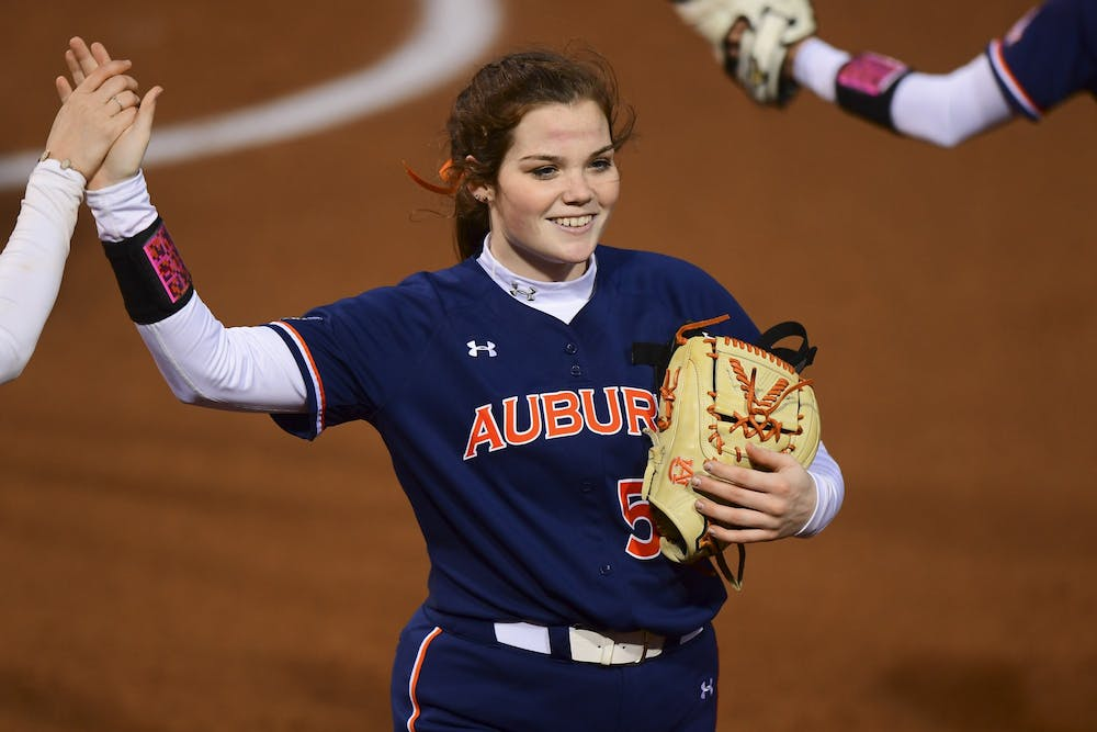 Auburn softball sweeps Murray State in doubleheader