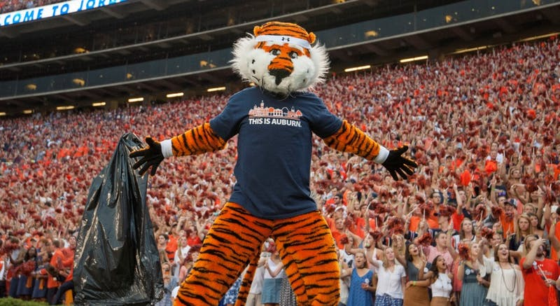 prior to an NCAA college football game, Saturday, Sept. 17, 2016, in Auburn, Ala.