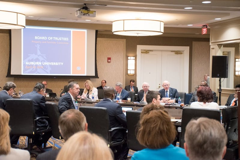 Board of Trustees meeting in Auburn, Ala., on Friday, April 20, 2018.