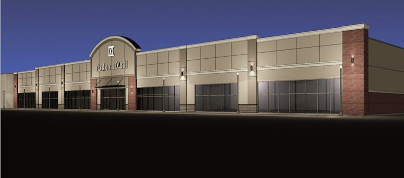 Rendering of Auburn Mall renovations.