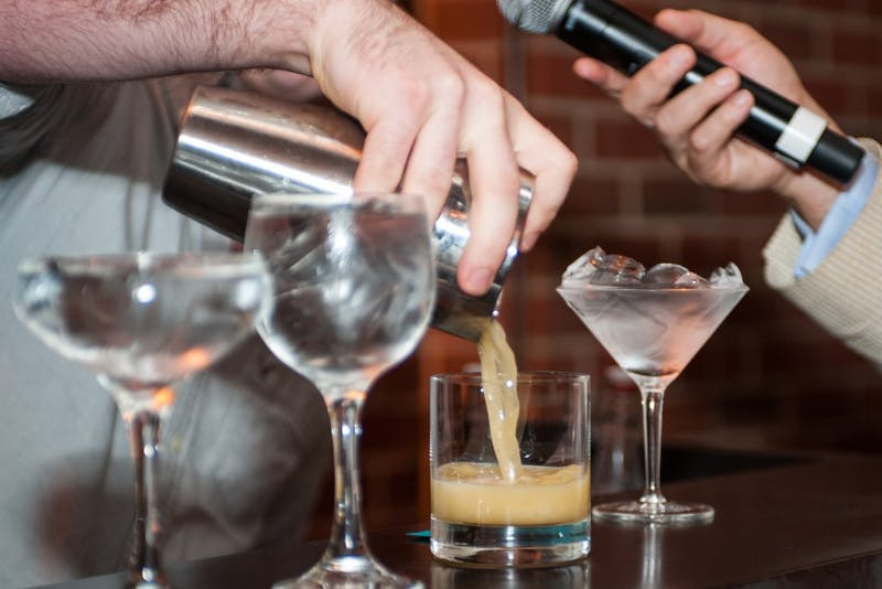 Avondale's Nolan Jones pours a drink during his turn of the competition. Bartender of the Year Competition on Wednesday, Sept. 27 at the Auburn University Hotel and Conference Center in Auburn, Ala.