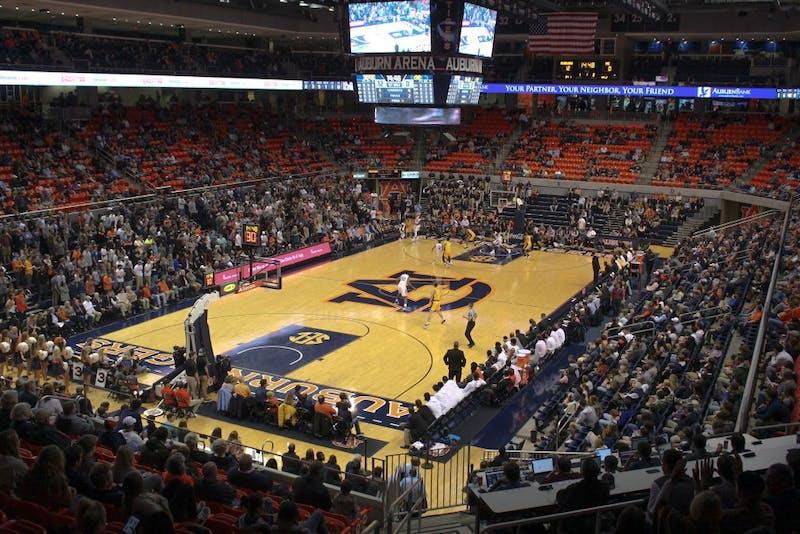 The Auburn Arena is pictured during Auburn Men's Basketball vs. Mississippi College on Nov. 14, 2018, in Auburn, Ala.