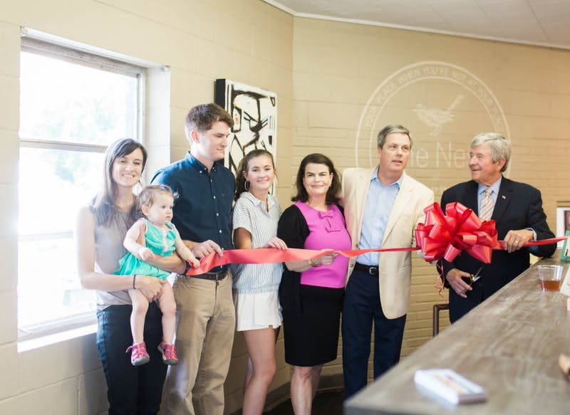 Chirpwood gallery hosted a ribbon cutting for their new coffee cafe, The Nest, on June 27, 2017 in Opelika, Ala. For more information on Chirpwood, read here.