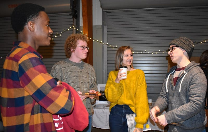 The Circle celebrates the release of the newest edition of magazine at the Red Barn in Auburn, Ala. on Nov. 27, 2018.