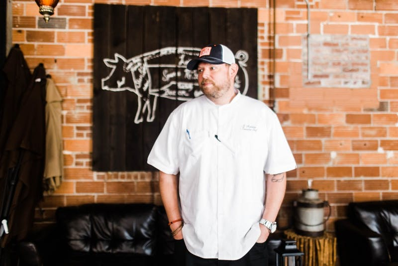 Robbie Nicolaisen discusses his experience being the head chef at the Hound on July 6, 2017, in Auburn, Ala.