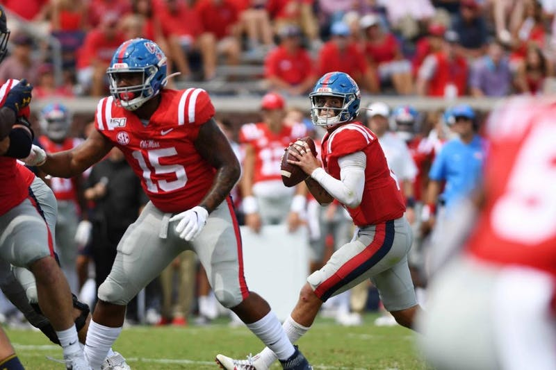 Ole Miss quarterback John Rhys Plumlee. Photo courtesy: Katherine Butler/The Daily Mississippian.