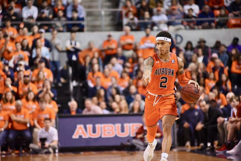 Bryce Brown (2) during Auburn Men's Basketball vs. Alabama on Feb. 2, 2019, in Auburn, Ala.