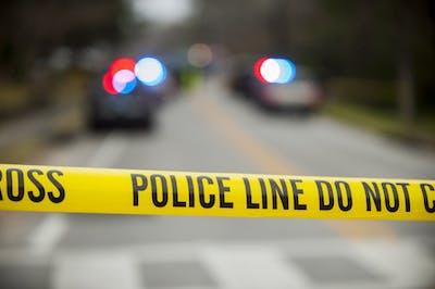 Police tape on North Gay Street in Auburn, Ala., on Wednesday, Feb. 24, 2016.