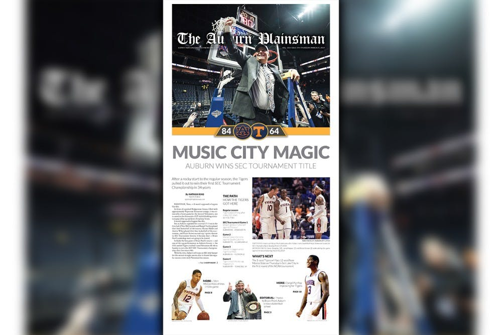 How to get a copy of The Plainsman's 2019 SEC Tournament commemorative edition
